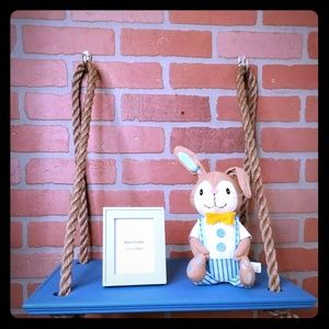 Blue Rope Hanging Shelf